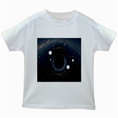 Brightest Cluster Galaxies And Supermassive Black Holes Kids White T Shirts by Mariart