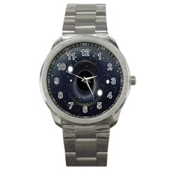 Brightest Cluster Galaxies And Supermassive Black Holes Sport Metal Watch by Mariart