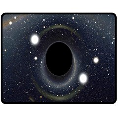 Brightest Cluster Galaxies And Supermassive Black Holes Fleece Blanket (medium)