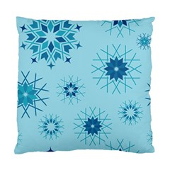 Blue Winter Snowflakes Star Standard Cushion Case (one Side) by Mariart