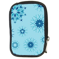 Blue Winter Snowflakes Star Compact Camera Cases by Mariart