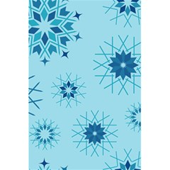 Blue Winter Snowflakes Star 5 5  X 8 5  Notebooks by Mariart