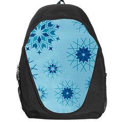 Blue Winter Snowflakes Star Backpack Bag
