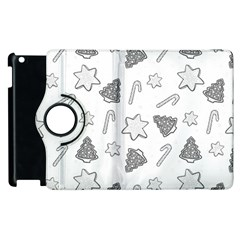 Ginger Cookies Christmas Pattern Apple Ipad 2 Flip 360 Case by Valentinaart