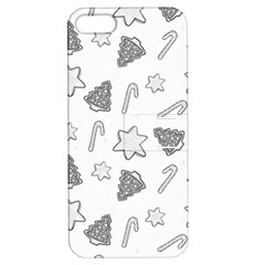 Ginger Cookies Christmas Pattern Apple Iphone 5 Hardshell Case With Stand by Valentinaart