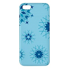 Blue Winter Snowflakes Star Iphone 5s/ Se Premium Hardshell Case by Mariart