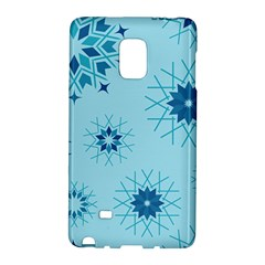 Blue Winter Snowflakes Star Galaxy Note Edge by Mariart