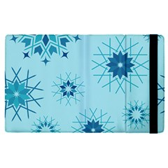 Blue Winter Snowflakes Star Apple Ipad Pro 12 9   Flip Case by Mariart