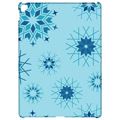 Blue Winter Snowflakes Star Apple Ipad Pro 12 9   Hardshell Case by Mariart