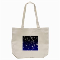 Blue Sky Christmas Snowflake Tote Bag (cream) by Mariart