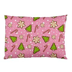 Ginger Cookies Christmas Pattern Pillow Case (two Sides) by Valentinaart