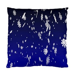 Blue Sky Christmas Snowflake Standard Cushion Case (one Side) by Mariart