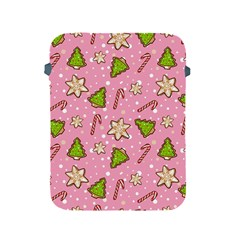 Ginger Cookies Christmas Pattern Apple Ipad 2/3/4 Protective Soft Cases by Valentinaart