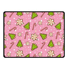 Ginger Cookies Christmas Pattern Double Sided Fleece Blanket (small)