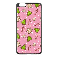 Ginger Cookies Christmas Pattern Apple Iphone 6 Plus/6s Plus Black Enamel Case