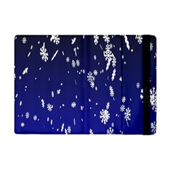 Blue Sky Christmas Snowflake Ipad Mini 2 Flip Cases by Mariart
