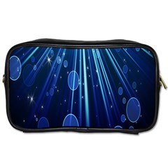 Blue Rays Light Stars Space Toiletries Bags by Mariart