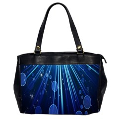 Blue Rays Light Stars Space Office Handbags (2 Sides)  by Mariart