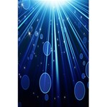 Blue Rays Light Stars Space 5.5  x 8.5  Notebooks Back Cover