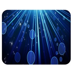 Blue Rays Light Stars Space Double Sided Flano Blanket (medium)  by Mariart