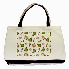 Ginger Cookies Christmas Pattern Basic Tote Bag (two Sides) by Valentinaart