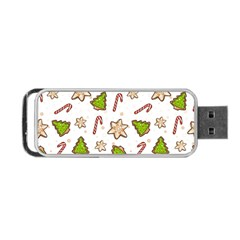 Ginger Cookies Christmas Pattern Portable Usb Flash (two Sides)