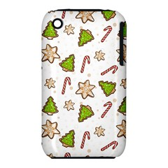 Ginger Cookies Christmas Pattern Iphone 3s/3gs by Valentinaart