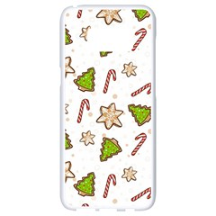 Ginger Cookies Christmas Pattern Samsung Galaxy S8 White Seamless Case by Valentinaart