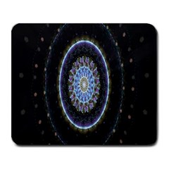 Colorful Hypnotic Circular Rings Space Large Mousepads by Mariart
