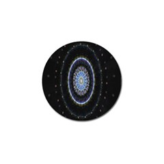 Colorful Hypnotic Circular Rings Space Golf Ball Marker (10 Pack)
