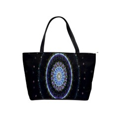 Colorful Hypnotic Circular Rings Space Shoulder Handbags by Mariart