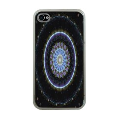 Colorful Hypnotic Circular Rings Space Apple Iphone 4 Case (clear) by Mariart