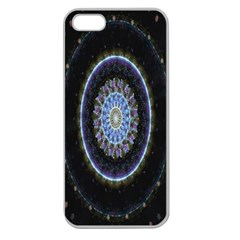 Colorful Hypnotic Circular Rings Space Apple Seamless Iphone 5 Case (clear) by Mariart