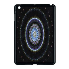 Colorful Hypnotic Circular Rings Space Apple Ipad Mini Case (black) by Mariart
