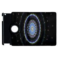 Colorful Hypnotic Circular Rings Space Apple Ipad 2 Flip 360 Case by Mariart
