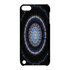 Colorful Hypnotic Circular Rings Space Apple Ipod Touch 5 Hardshell Case With Stand by Mariart