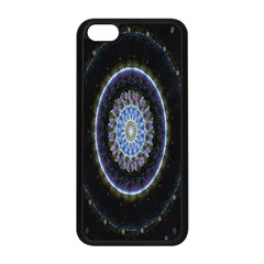 Colorful Hypnotic Circular Rings Space Apple Iphone 5c Seamless Case (black) by Mariart