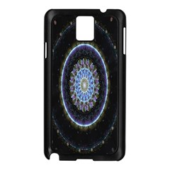 Colorful Hypnotic Circular Rings Space Samsung Galaxy Note 3 N9005 Case (black)