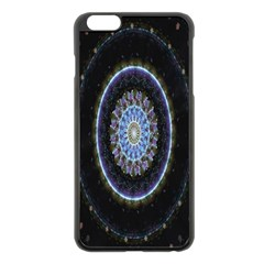 Colorful Hypnotic Circular Rings Space Apple Iphone 6 Plus/6s Plus Black Enamel Case by Mariart