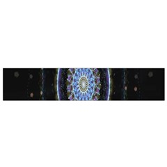 Colorful Hypnotic Circular Rings Space Flano Scarf (small) by Mariart