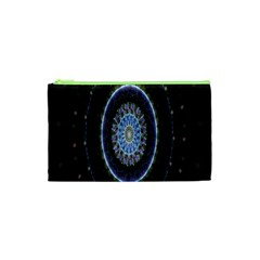Colorful Hypnotic Circular Rings Space Cosmetic Bag (xs) by Mariart