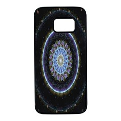 Colorful Hypnotic Circular Rings Space Samsung Galaxy S7 Black Seamless Case