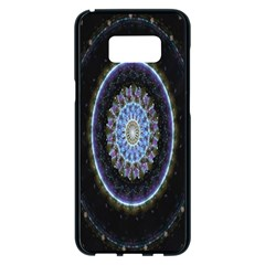 Colorful Hypnotic Circular Rings Space Samsung Galaxy S8 Plus Black Seamless Case