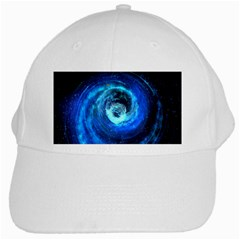 Blue Black Hole Galaxy White Cap by Mariart