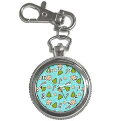 Ginger Cookies Christmas Pattern Key Chain Watches