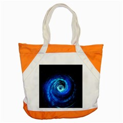 Blue Black Hole Galaxy Accent Tote Bag by Mariart