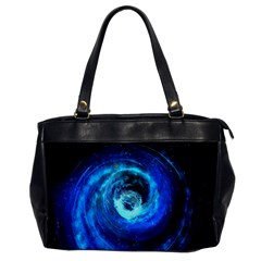 Blue Black Hole Galaxy Office Handbags by Mariart