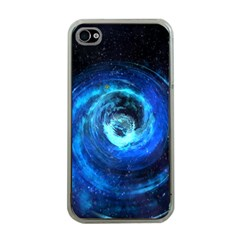 Blue Black Hole Galaxy Apple Iphone 4 Case (clear) by Mariart