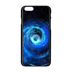 Blue Black Hole Galaxy Apple Iphone 6/6s Black Enamel Case by Mariart