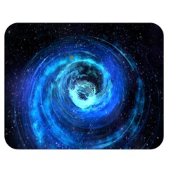 Blue Black Hole Galaxy Double Sided Flano Blanket (medium)  by Mariart